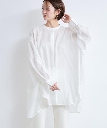 DOUDOU(ドゥドゥ) シアーオーバーチュニックシャツ