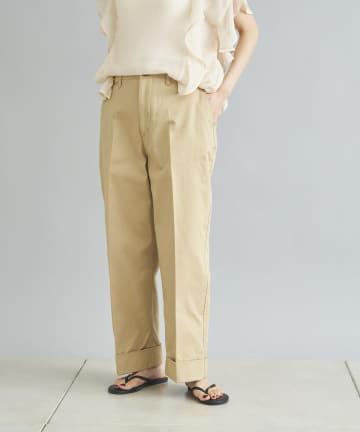DOUDOU(ドゥドゥ) 【Luvourdays/ラブアワーデイズ】Wide chino pants