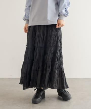 Lui's(ルイス) ワッシャーティアードロングスカート