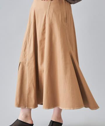 Chez toi(シェトワ) ステッチアシメスリットスカート