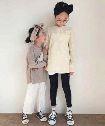 CIAOPANIC TYPY(チャオパニックティピー) 【KIDS】ヘビーワッフル クルーネック ロングスリーブT
