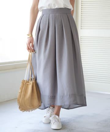 La boutique BonBon(ラブティックボンボン) シアーオーガンバックテールスカート