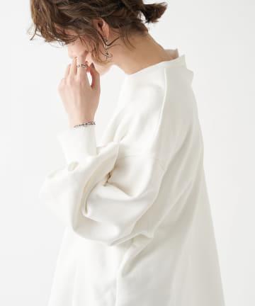 un dix cors(アンディコール) 【ふんわり袖が女性らしい】ボリュームスリーブ裏毛カットソー