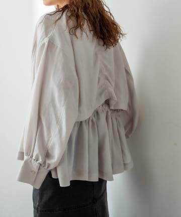 mystic(ミスティック) ドロストペプラムシャツ