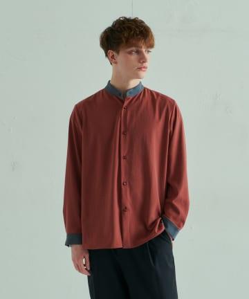 Lui's(ルイス) スタンドカラー クレリックシャツ
