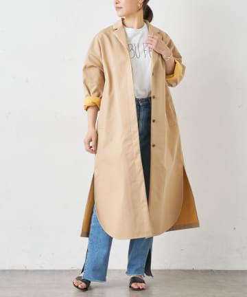 BONbazaar(ボンバザール) 【2BUY10%OFF対象】配色ボンディングビッグシャツコート