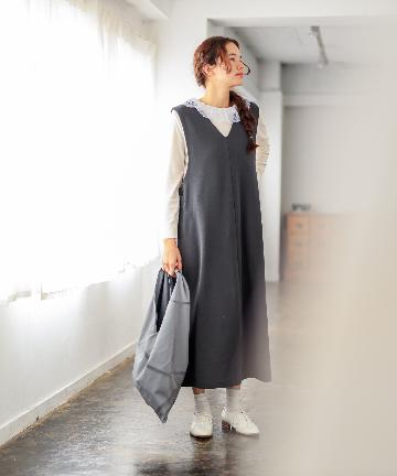pual ce cin(ピュアルセシン) 【WEB限定・Du noir】裏毛ジャンパースカート