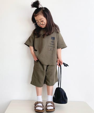 CIAOPANIC TYPY(チャオパニックティピー) 【KIDS】サイドプリント ワッフルセットアップ