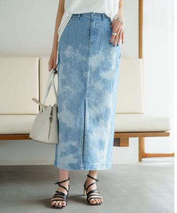 Loungedress(ラウンジドレス) 【YANUK/ヤヌーク】スリットロングスカート