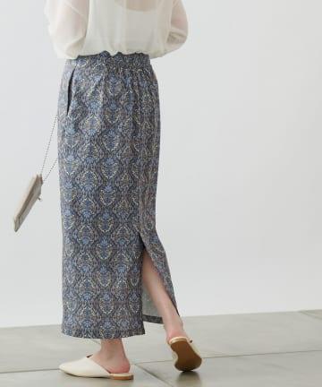 COLONY 2139(コロニー トゥーワンスリーナイン) ダマスク柄ハイウエストタイトスカート