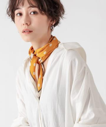 un dix cors(アンディコール) 【レトロなデザインが魅力】ドット柄スカーフ