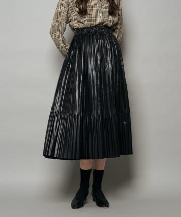 CIAOPANIC(チャオパニック) フェイクレザーギャザースカート
