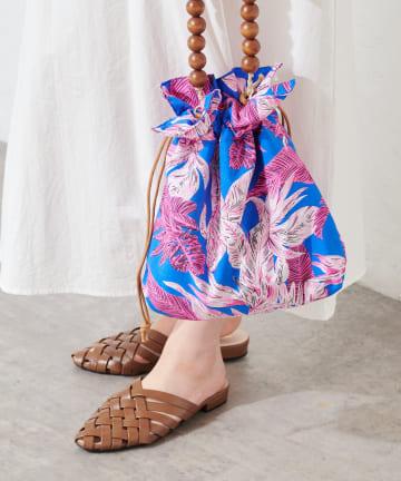 natural couture(ナチュラルクチュール) 編みメッシュバブーシュ
