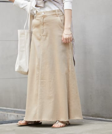 CIAOPANIC TYPY(チャオパニックティピー) むら染フェードAラインロングスカート