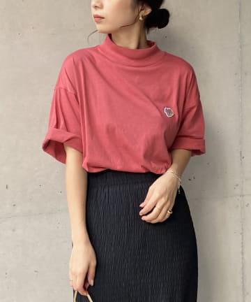 CAPRICIEUX LE'MAGE(カプリシュレマージュ) 〈WEB限定カラー/PINK〉【Wrangler/ラングラー】モックTシャツ