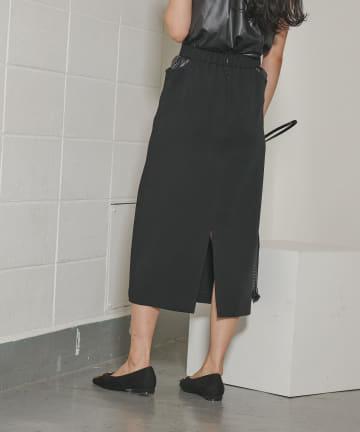 COLONY 2139(コロニー トゥーワンスリーナイン) 【WEB・一部店舗限定】ウエストカッティングツイルペンシルスカート