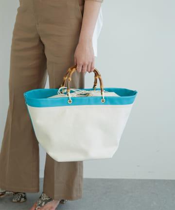 GALLARDAGALANTE(ガリャルダガランテ) バンブーキャンバストートバッグ