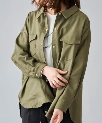 Chez toi(シェトワ) コットンシャツジャケット