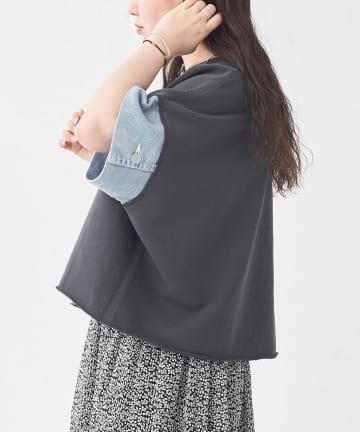 CPCM(シーピーシーエム) デニム切替5分袖プルオーバー