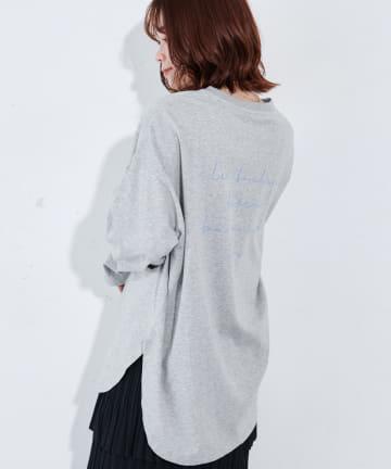 Discoat(ディスコート) オソロバックロゴチュニックロングTシャツ