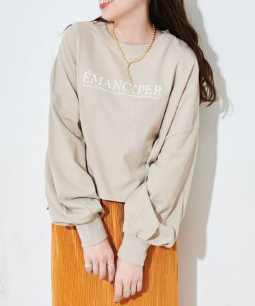 Discoat(ディスコート) ショート丈ロゴロングTシャツ