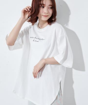 Discoat(ディスコート) オソロビッグロゴ5分袖Tシャツ