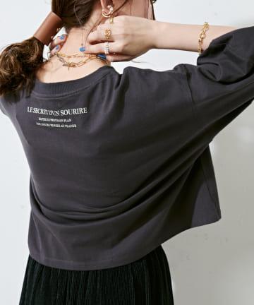 Discoat(ディスコート) ショート丈ロゴTシャツ