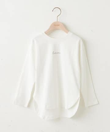 Discoat(ディスコート) 【キッズ】オソロバックロゴチュニックロングTシャツ