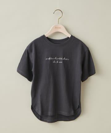 Discoat(ディスコート) 【キッズ】オソロビッグロゴチュニック5分袖Tシャツ