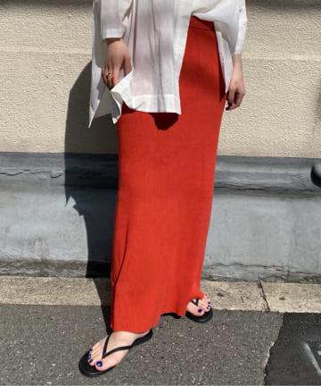 DOUDOU(ドゥドゥ) 【追加予約】コットンリブニットスカート