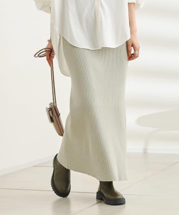 DOUDOU(ドゥドゥ) 【新色追加】コットンリブニットスカート
