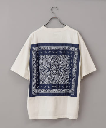 CIAOPANIC(チャオパニック) #【ELEPHANT BRAND】ビッグシルエットバンダナバックプリントTシャツ
