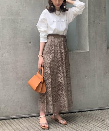 Loungedress(ラウンジドレス) レオパードドッキングスカート