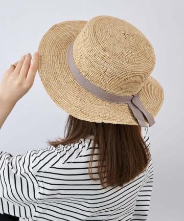 COLONY 2139(コロニー トゥーワンスリーナイン) 手編みラフィアカンカン帽