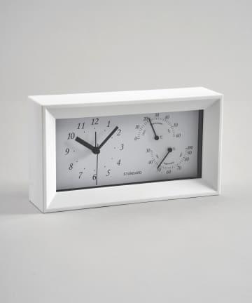 3COINS(スリーコインズ) 湿温計付き置時計