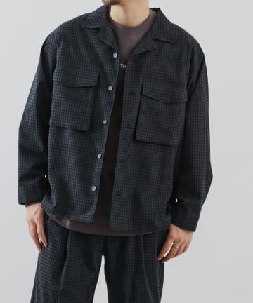 COLONY 2139(コロニー トゥーワンスリーナイン) TRストレッチ/チェック柄CPOシャツ(セットアップ可)