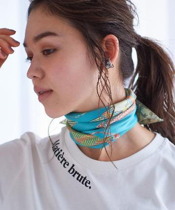 La boutique BonBon(ラブティックボンボン) 【manipuri(マニプリ)】ウィッカーボトルシルクスカーフ
