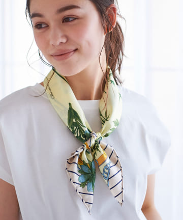 La boutique BonBon(ラブティックボンボン) 【manipuri(マニプリ)】フルールシルクスカーフ