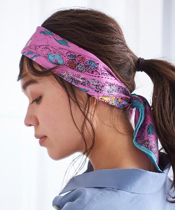 La boutique BonBon(ラブティックボンボン) 【manipuri(マニプリ)】フロートマーケットシルクスカーフ