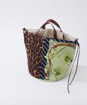 La boutique BonBon(ラブティックボンボン) 【WEB限定・manipuri】バケツトートMレオパードフルール