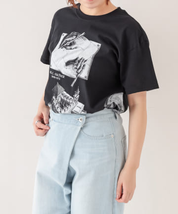 BONbazaar(ボンバザール) 《ユニセックス》【ESCHER】プリントTシャツ
