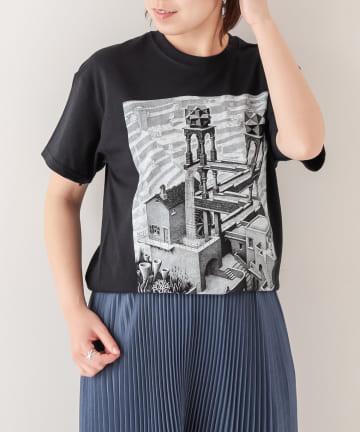 BONbazaar(ボンバザール) 【ESCHER】プリントTシャツ