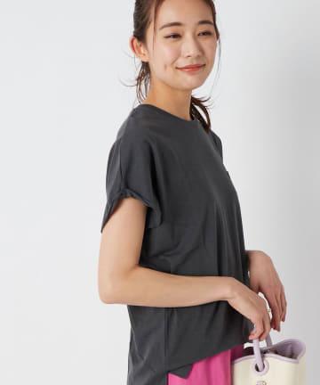La boutique BonBon(ラブティックボンボン) 【手洗い可・marmors (マルモア)】ロールアップTシャツ