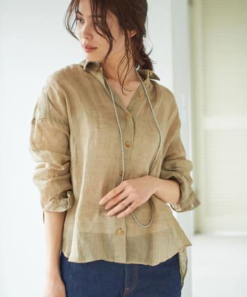 La boutique BonBon(ラブティックボンボン) 【手洗い可・marmors (マルモア)】リネンシャツ