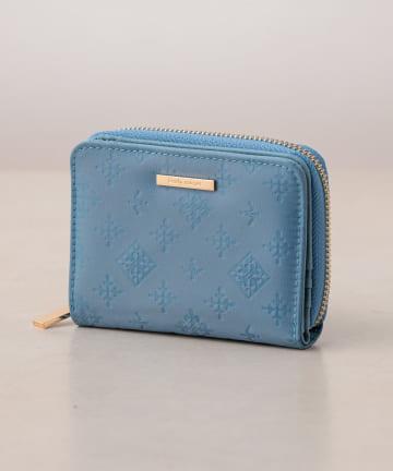 Daily russet(デイリー ラシット) 裏張りナイロン型押し 二つ折り財布