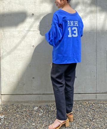Omekashi(オメカシ) フットボールボリュームプルオーバー