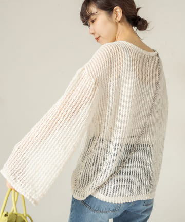 CAPRICIEUX LE'MAGE(カプリシュレマージュ) メッシュチュニック