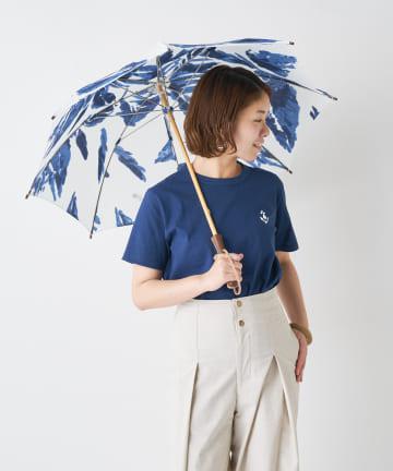 BONbazaar(ボンバザール) 《晴雨兼用》【breezy blue】 捺染パラソル 長傘