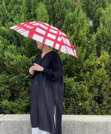 BONbazaar(ボンバザール) 《晴雨兼用》【breezy blue】捺染パラソル 折り畳み傘