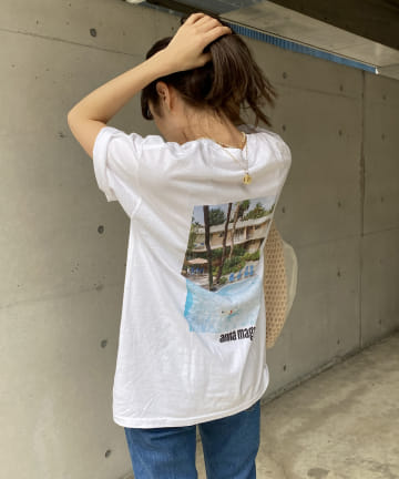 CAPRICIEUX LE'MAGE(カプリシュレマージュ) 【FRUIT OF THE LOOM】ANNA MAGAZINE Tシャツ